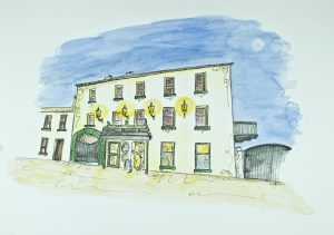 Illustration 'The Bushmills Inn' by Gráinne Knox at Inspired by Astrid