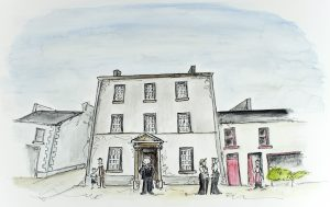 Illustration 'The Old Courthouse' by Gráinne Knox at Inspired by Astrid